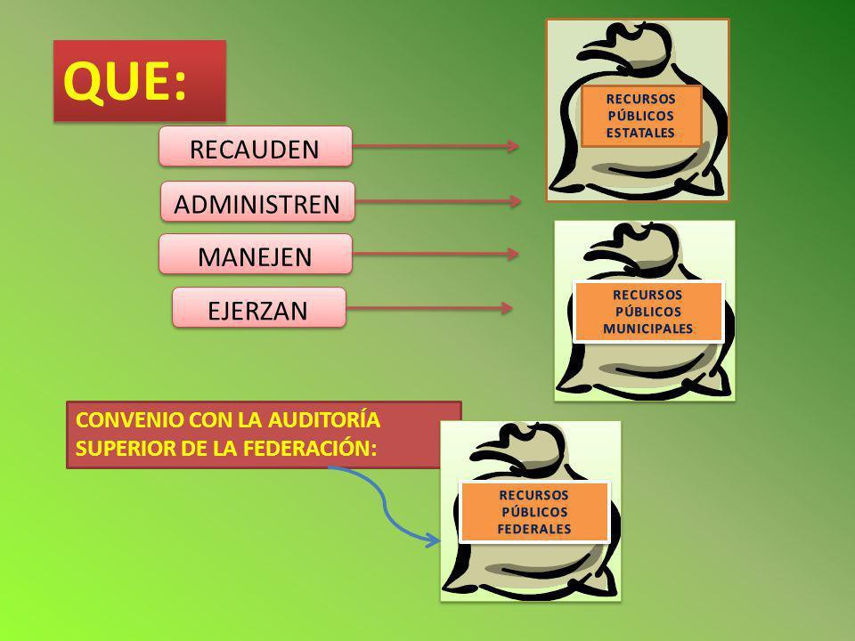 LA ASE FISCALIZA PARA DETERMINAR : SI LOS PROGRAMAS Y SU EJECUCIÓN SE AJUSTAN A TÉRMINOS Y MONTOS APROBADOS.