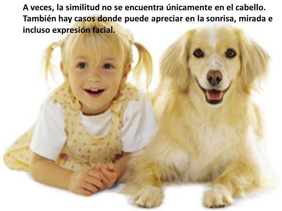 A veces, la similitud no se encuentra únicamente en el cabello. También hay casos donde puede apreciar en la sonrisa, mirada e incluso expresión facia