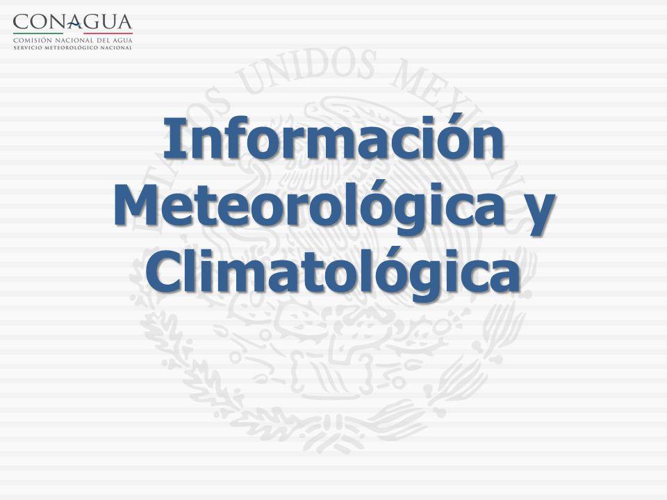 Información Meteorológica y Climatológica
