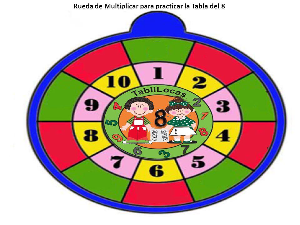 Rueda de Multiplicar para practicar la Tabla del 8