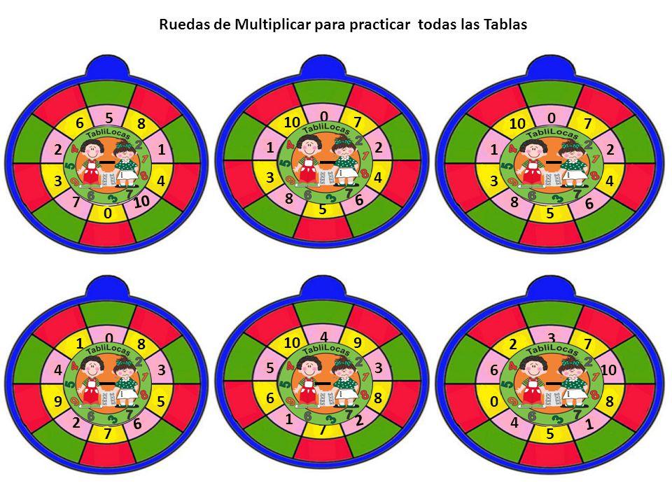 5 8 6 21 0 34 7 10 0 7 12 5 34 8 6 0 7 12 5 34 8 6 0 8 1 43 7 95 2 6 4 9 53 7 68 1 2 3 72 6 5 08 4 1 Ruedas de Multiplicar para practicar todas las Ta