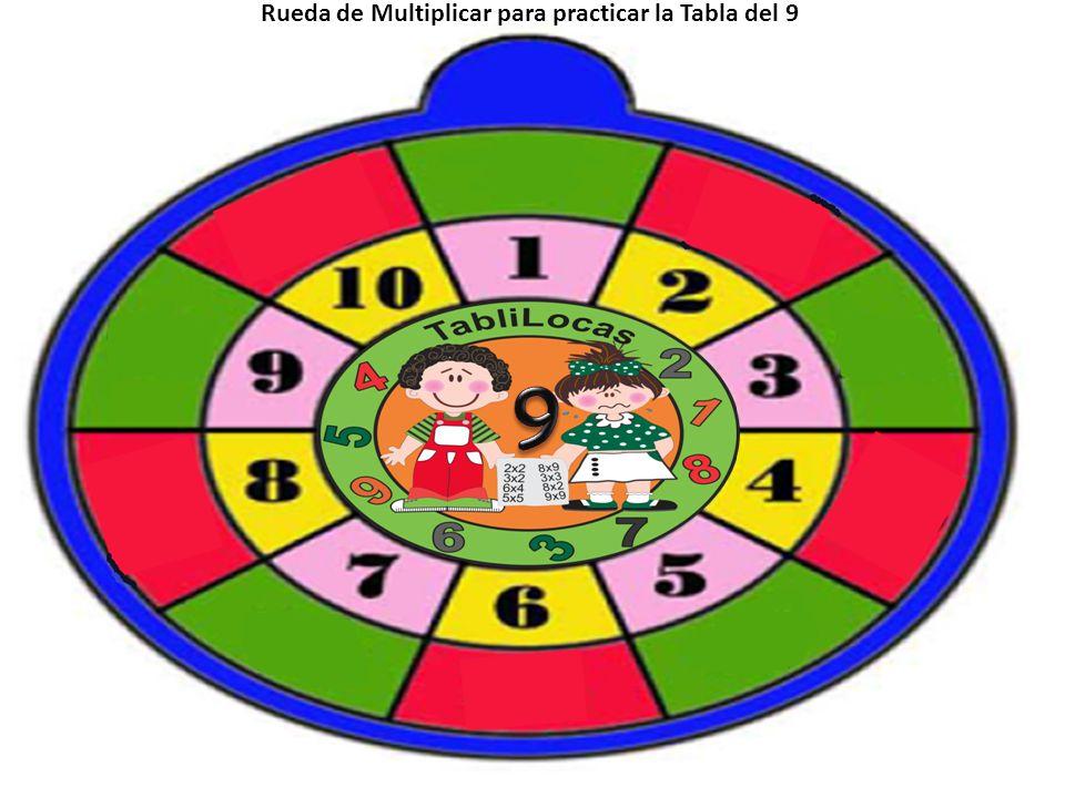 Rueda de Multiplicar para practicar la Tabla del 9
