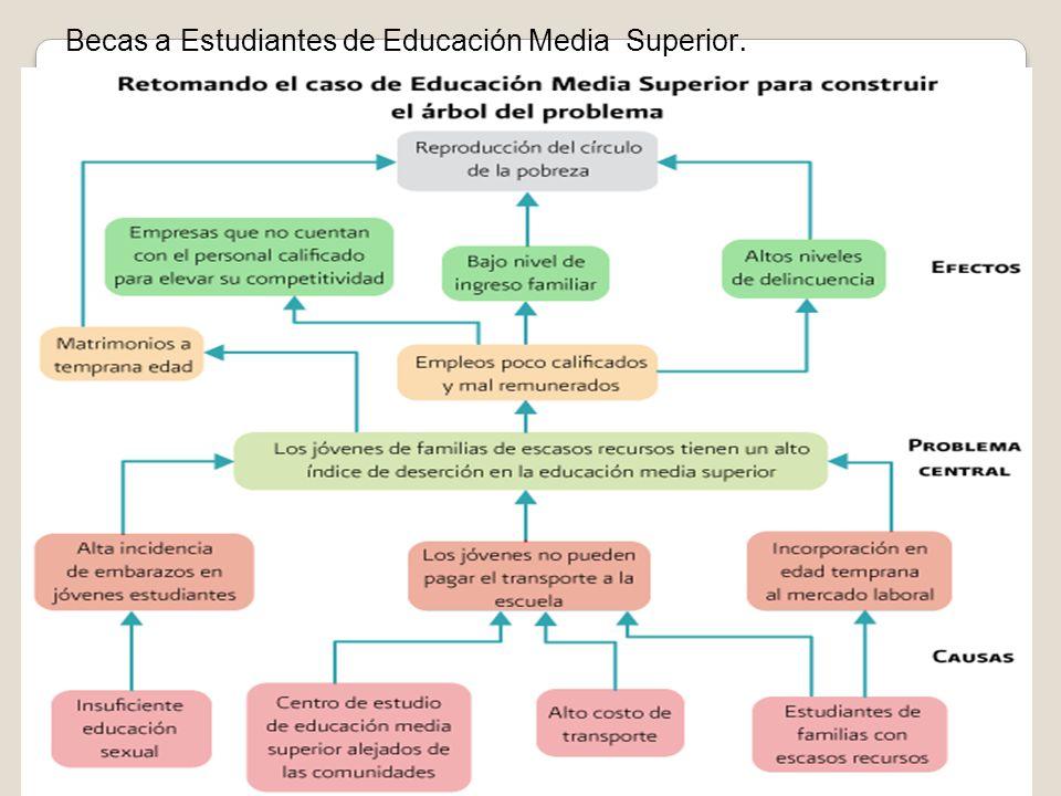 Becas a Estudiantes de Educación Media Superior.