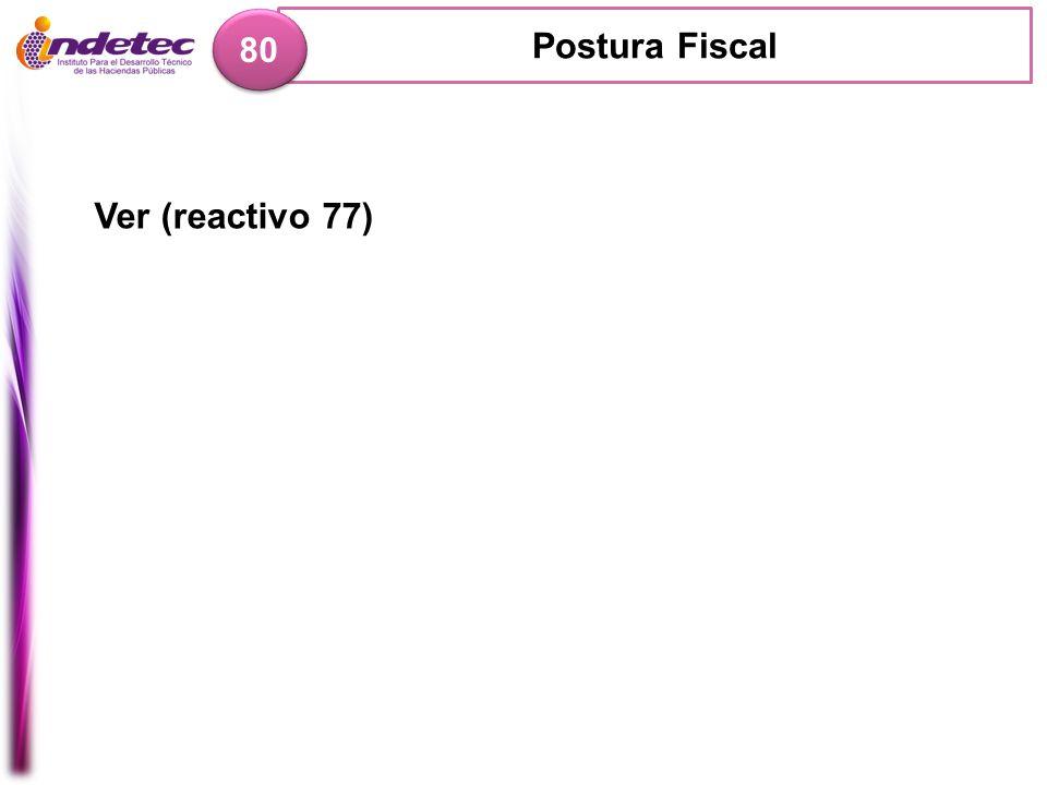 Postura Fiscal 80 Ver (reactivo 77)