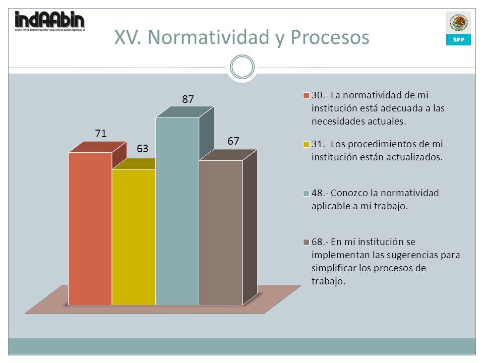 XV. Normatividad y Procesos