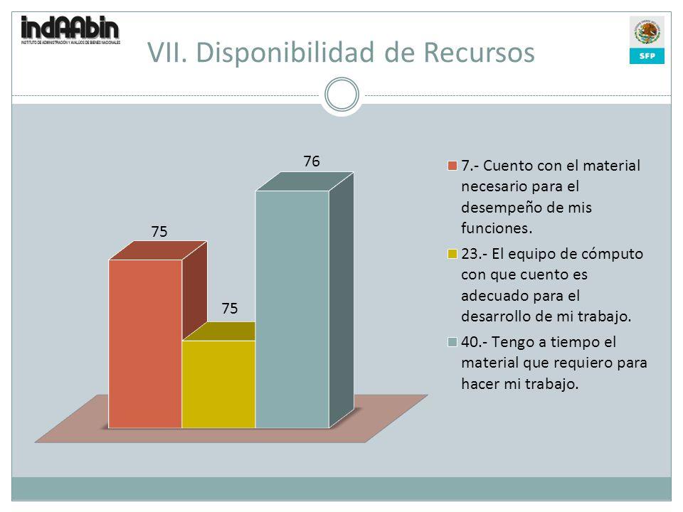 VII. Disponibilidad de Recursos