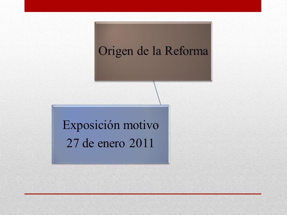 Origen de la Reforma Exposición motivo 27 de enero 2011
