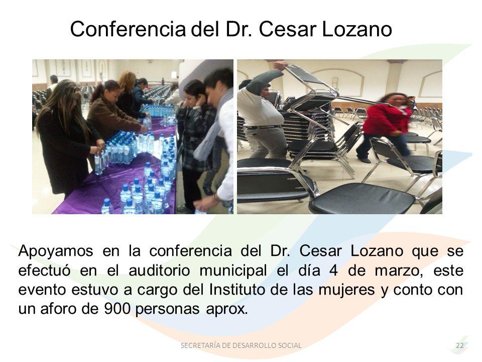 Apoyamos en la conferencia del Dr.