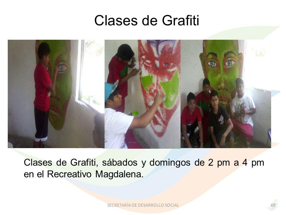 Clases de Grafiti, sábados y domingos de 2 pm a 4 pm en el Recreativo Magdalena.