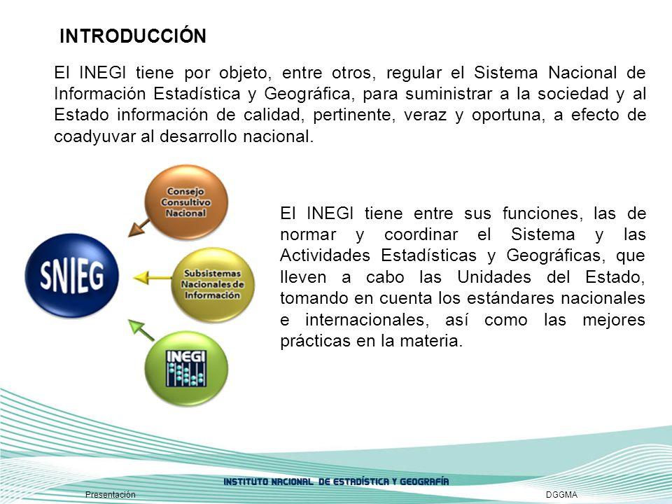 El INEGI tiene por objeto, entre otros, regular el Sistema Nacional de Información Estadística y Geográfica, para suministrar a la sociedad y al Estad