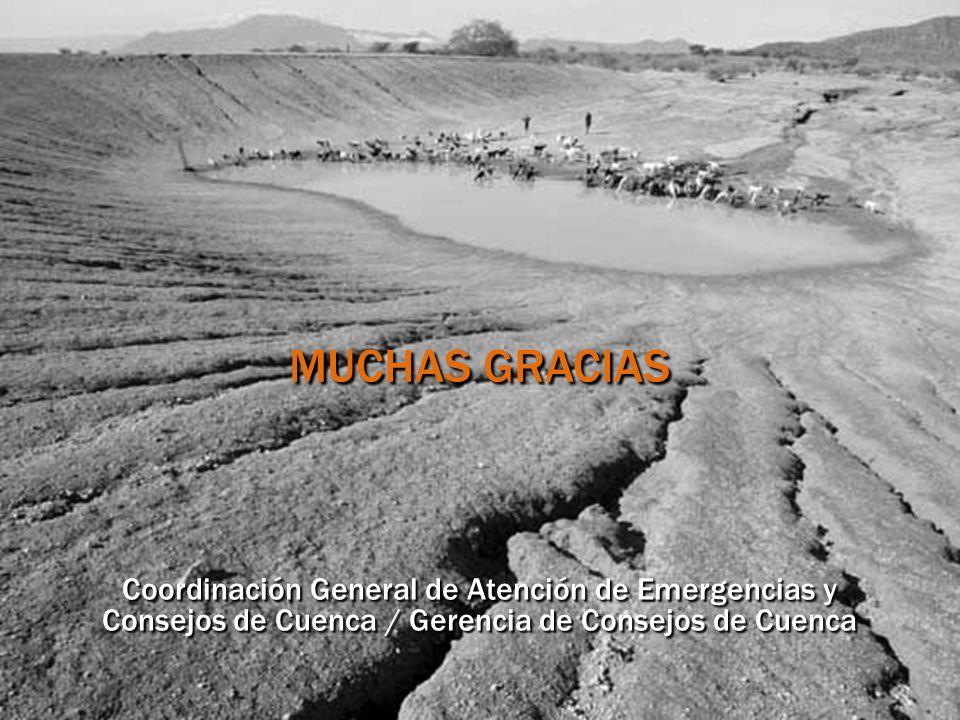 MUCHAS GRACIAS Coordinación General de Atención de Emergencias y Consejos de Cuenca / Gerencia de Consejos de Cuenca