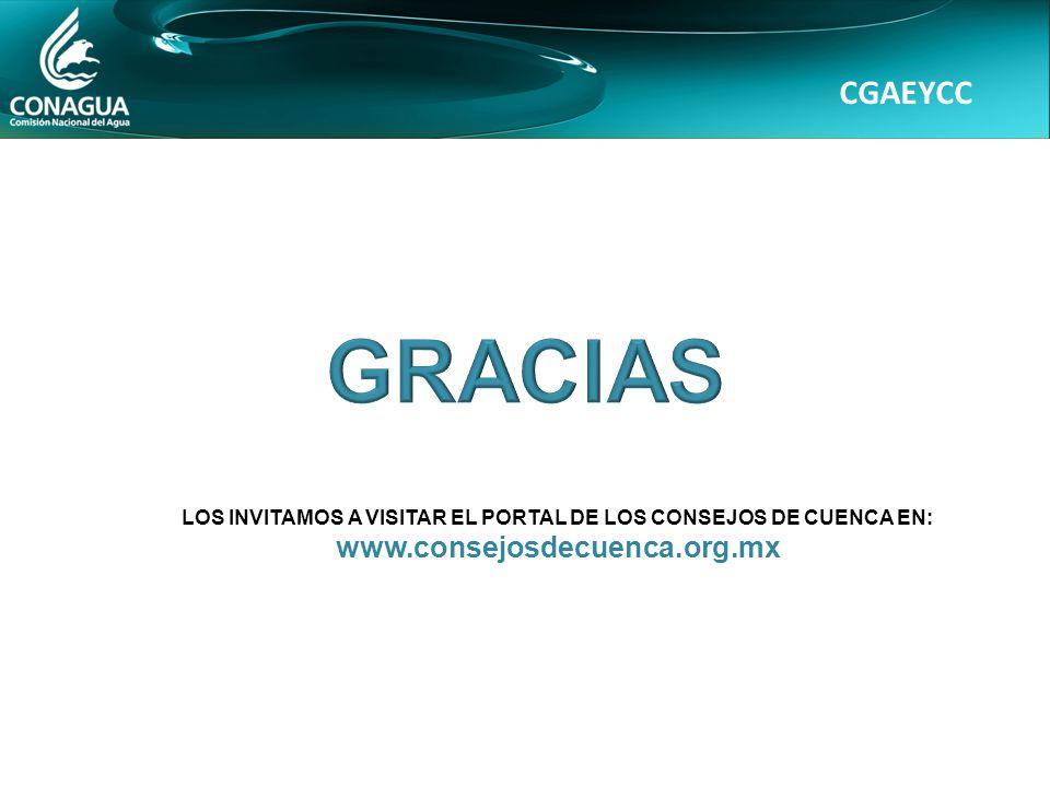 CGAEYCC LOS INVITAMOS A VISITAR EL PORTAL DE LOS CONSEJOS DE CUENCA EN: www.consejosdecuenca.org.mx