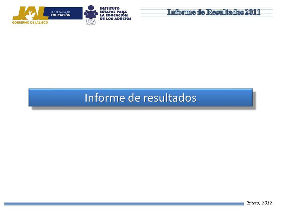 Enero, 2012 Informe de resultados