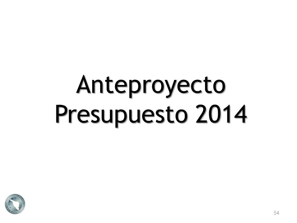 Anteproyecto Presupuesto 2014 54