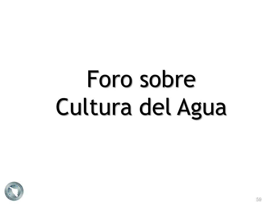 Foro sobre Cultura del Agua 59