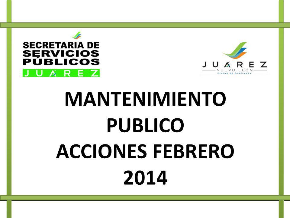 MANTENIMIENTO PUBLICO ACCIONES FEBRERO 2014