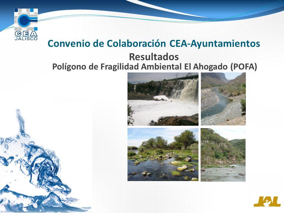 Convenio de Colaboración CEA-Ayuntamientos Resultados Polígono de Fragilidad Ambiental El Ahogado (POFA)