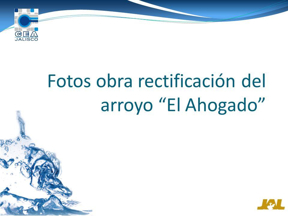 Fotos obra rectificación del arroyo El Ahogado