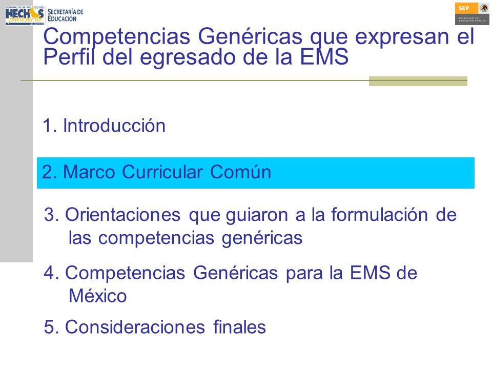 2.Marco Curricular Común 3.