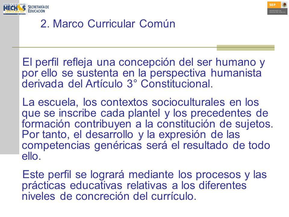 El perfil refleja una concepción del ser humano y por ello se sustenta en la perspectiva humanista derivada del Artículo 3° Constitucional.