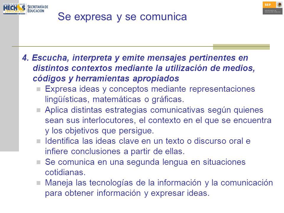 Se expresa y se comunica 4.