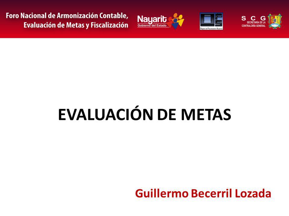 EVALUACIÓN DE METAS Guillermo Becerril Lozada