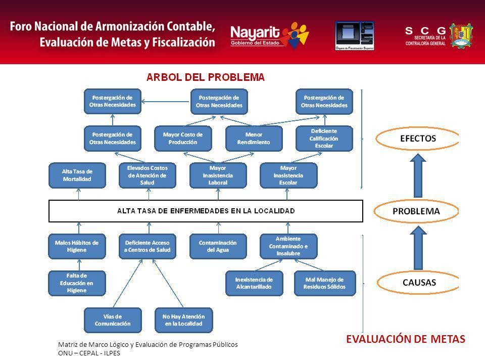 Matriz de Marco Lógico y Evaluación de Programas Públicos ONU – CEPAL - ILPES