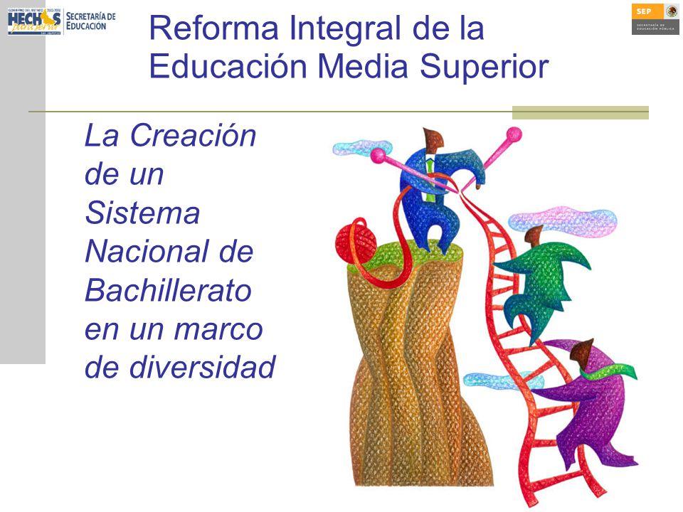 La Creación de un Sistema Nacional de Bachillerato en un marco de diversidad Reforma Integral de la Educación Media Superior