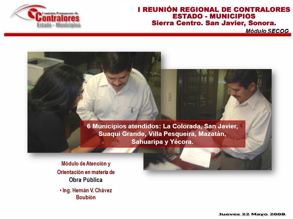 Módulo SECOG Módulo de Atención y Orientación en materia de Obra Pública Ing.