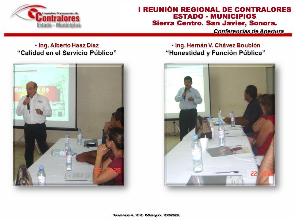Conferencias de Apertura Ing. Hernán V. Chávez Boubión Honestidad y Función Pública Ing.