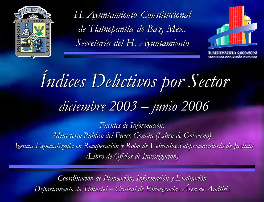 H. Ayuntamiento Constitucional de Tlalnepantla de Baz, Méx. Secretaría del H. Ayuntamiento Coordinación de Planeación, Información y Evaluación Depart