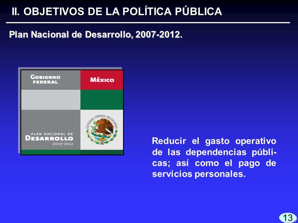 Plan Nacional de Desarrollo, 2007-2012. II.