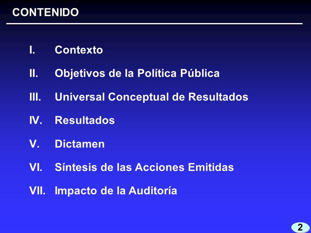2 2 I. Contexto II. Objetivos de la Política Pública III.