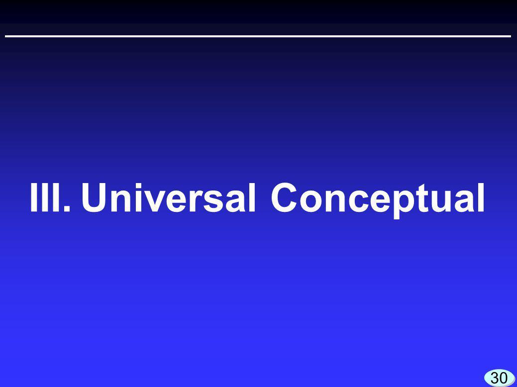III.Universal Conceptual 30