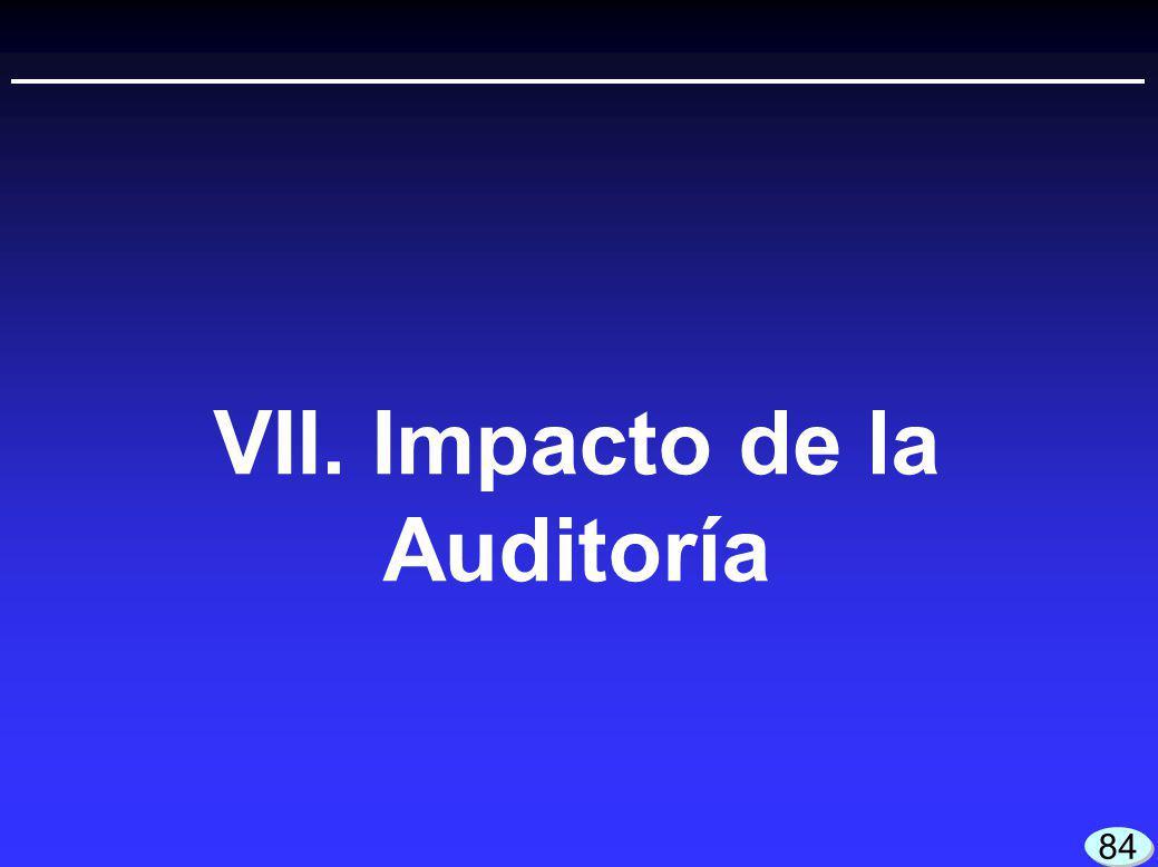 VII. Impacto de la Auditoría 84