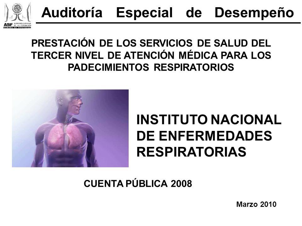PRESTACIÓN DE LOS SERVICIOS DE SALUD DEL TERCER NIVEL DE ATENCIÓN MÉDICA PARA LOS PADECIMIENTOS RESPIRATORIOS INSTITUTO NACIONAL DE ENFERMEDADES RESPI
