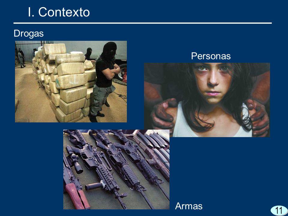 11 I. Contexto Drogas Personas Armas