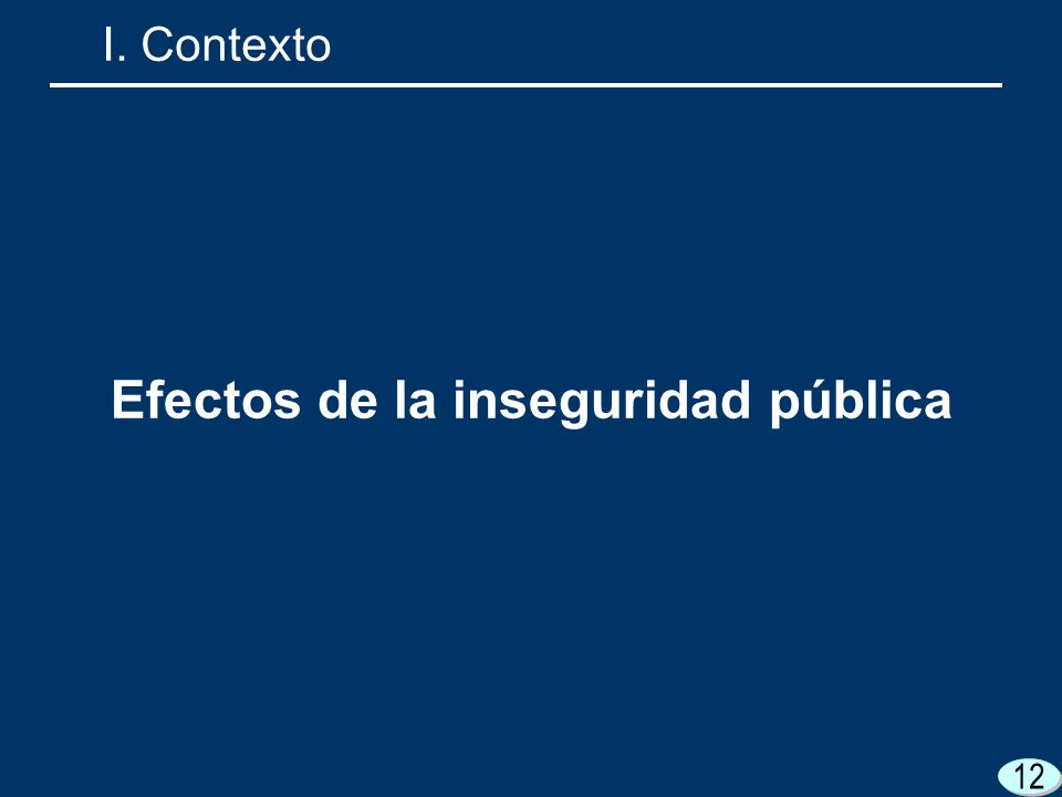 12 Efectos de la inseguridad pública I. Contexto