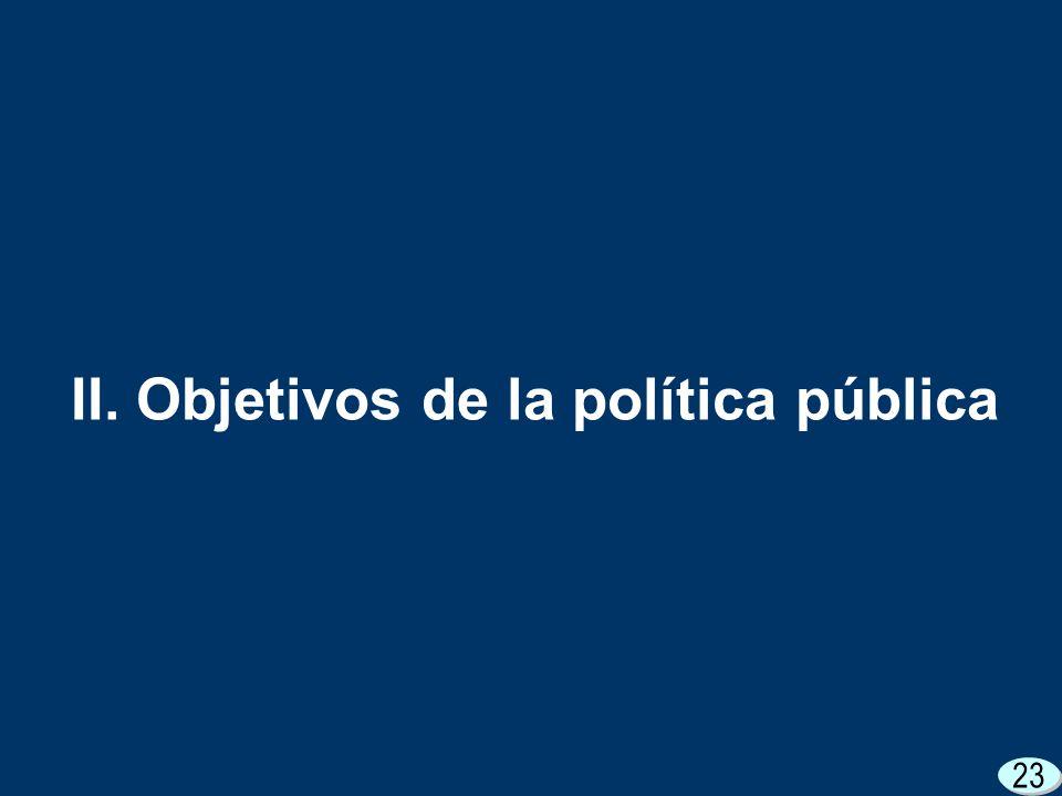 23 II. Objetivos de la política pública