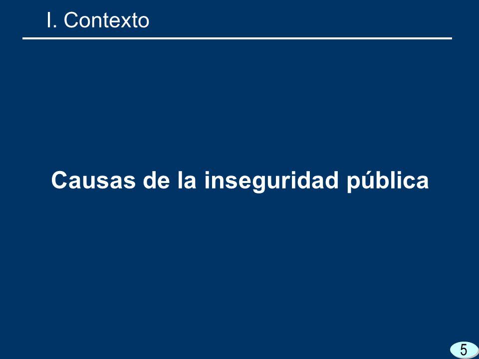 5 Causas de la inseguridad pública I. Contexto