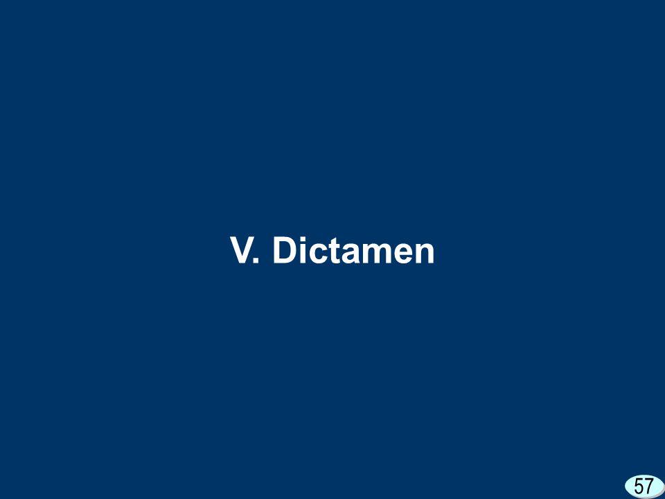 57 V. Dictamen