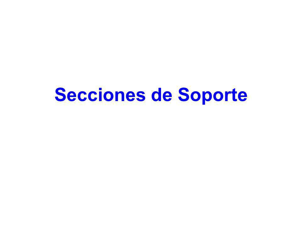 Secciones de Soporte