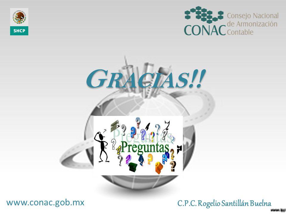 G RACIAS !! G RACIAS !! C.P.C. Rogelio Santillán Buelna www.conac.gob.mx