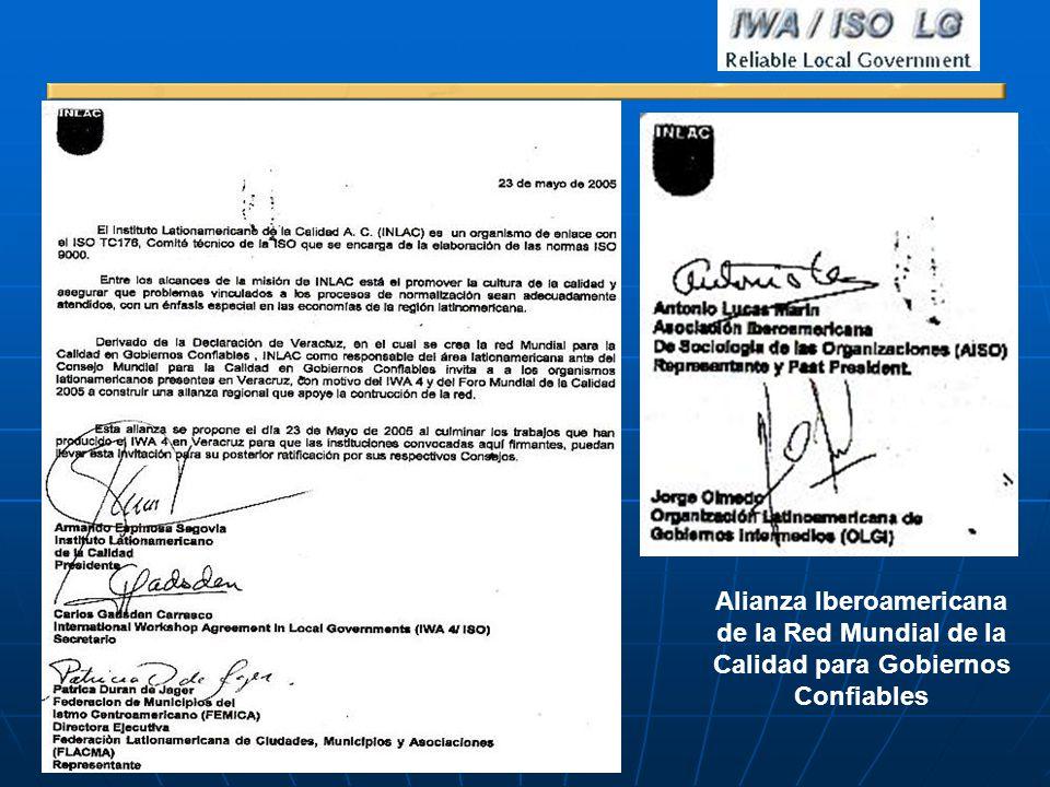 Alianza Iberoamericana de la Red Mundial de la Calidad para Gobiernos Confiables