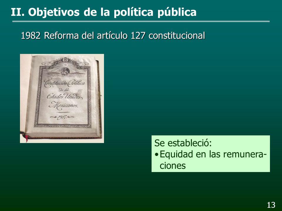 II. Objetivos de la política pública 12