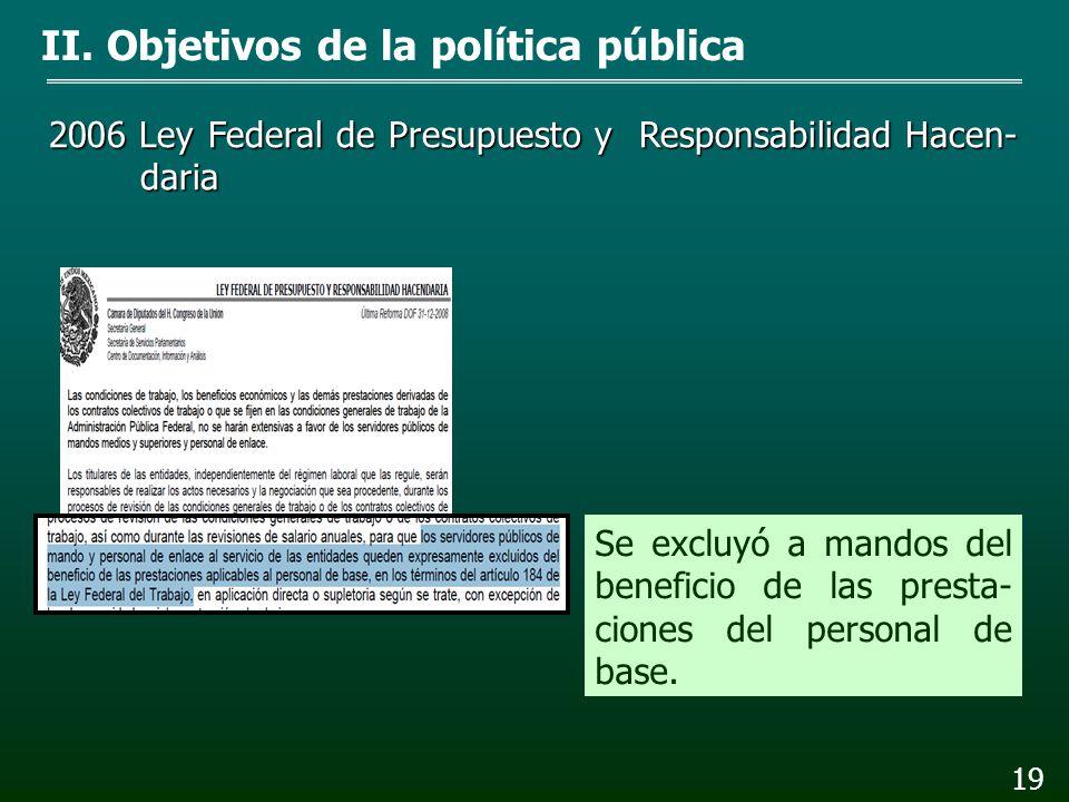 2002 Ley Federal de Transparencia y Acceso a la Infor- mación Pública Gubernamental II. Objetivos de la política pública 18 Se ordenó publicar las re-