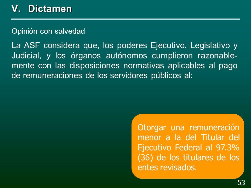 V. Dictamen 52