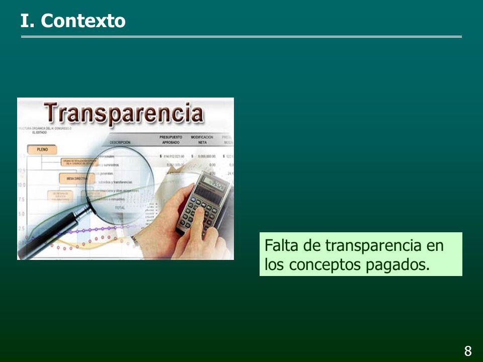 7 I. Contexto Discrecionalidad en las remuneraciones pagadas.