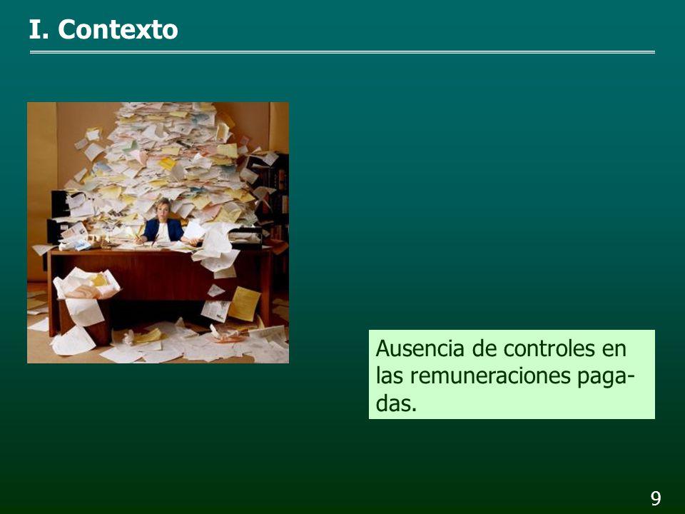 8 Falta de transparencia en los conceptos pagados. I. Contexto
