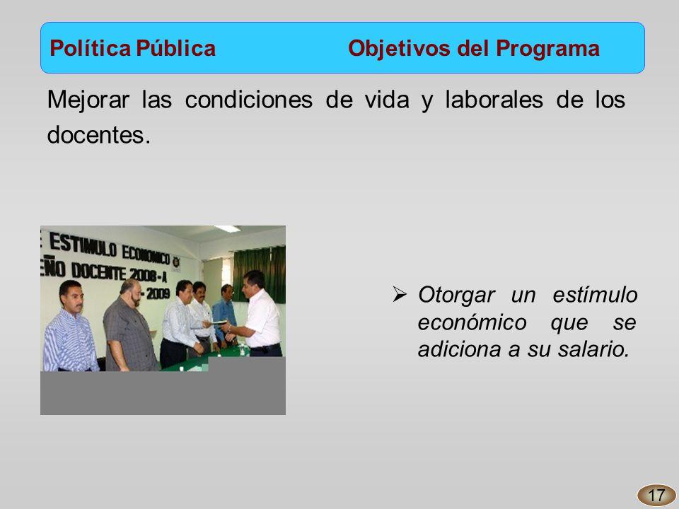 Mejorar las condiciones de vida y laborales de los docentes.
